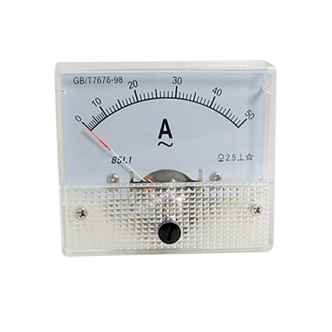 Class 2.5 Accuracy AC 0-50A Analog Panel Ammeter 85L1