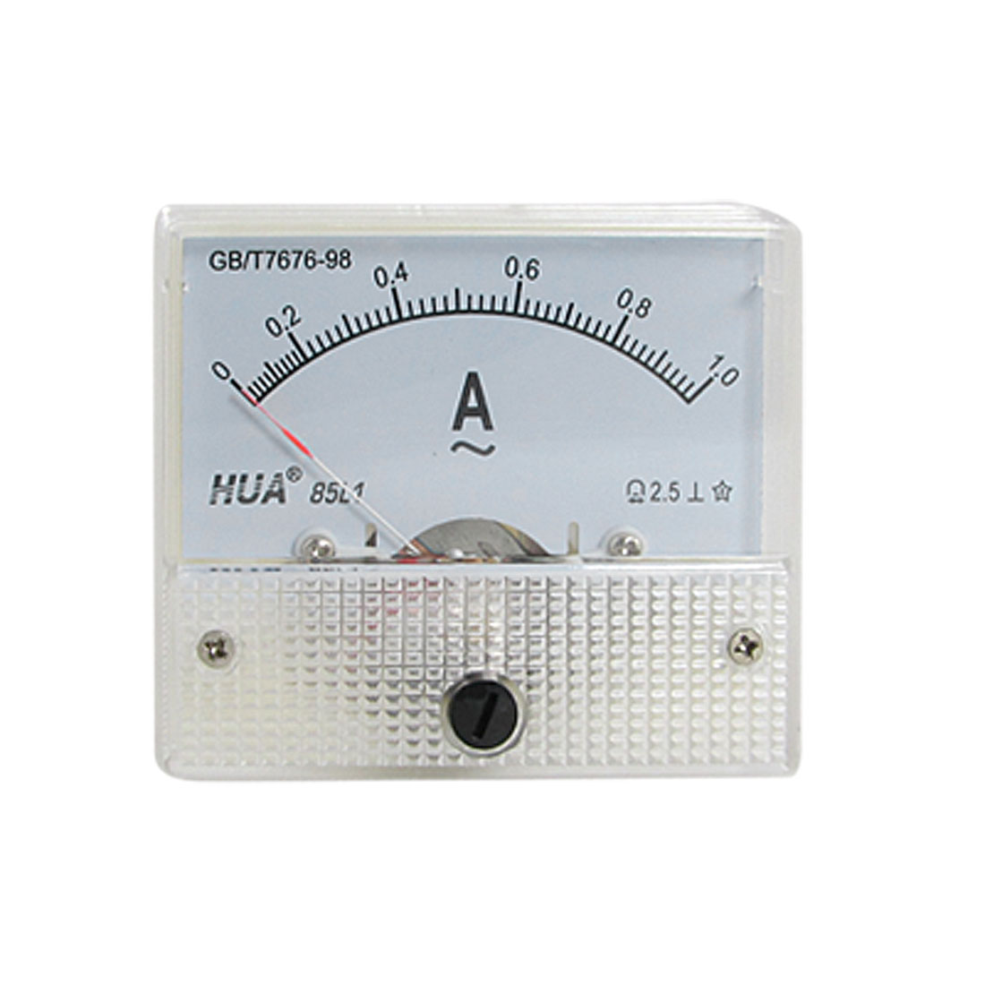 Fine Tuning Dial Panel Ampere Meter Gauge 85L1 AC 0-1A