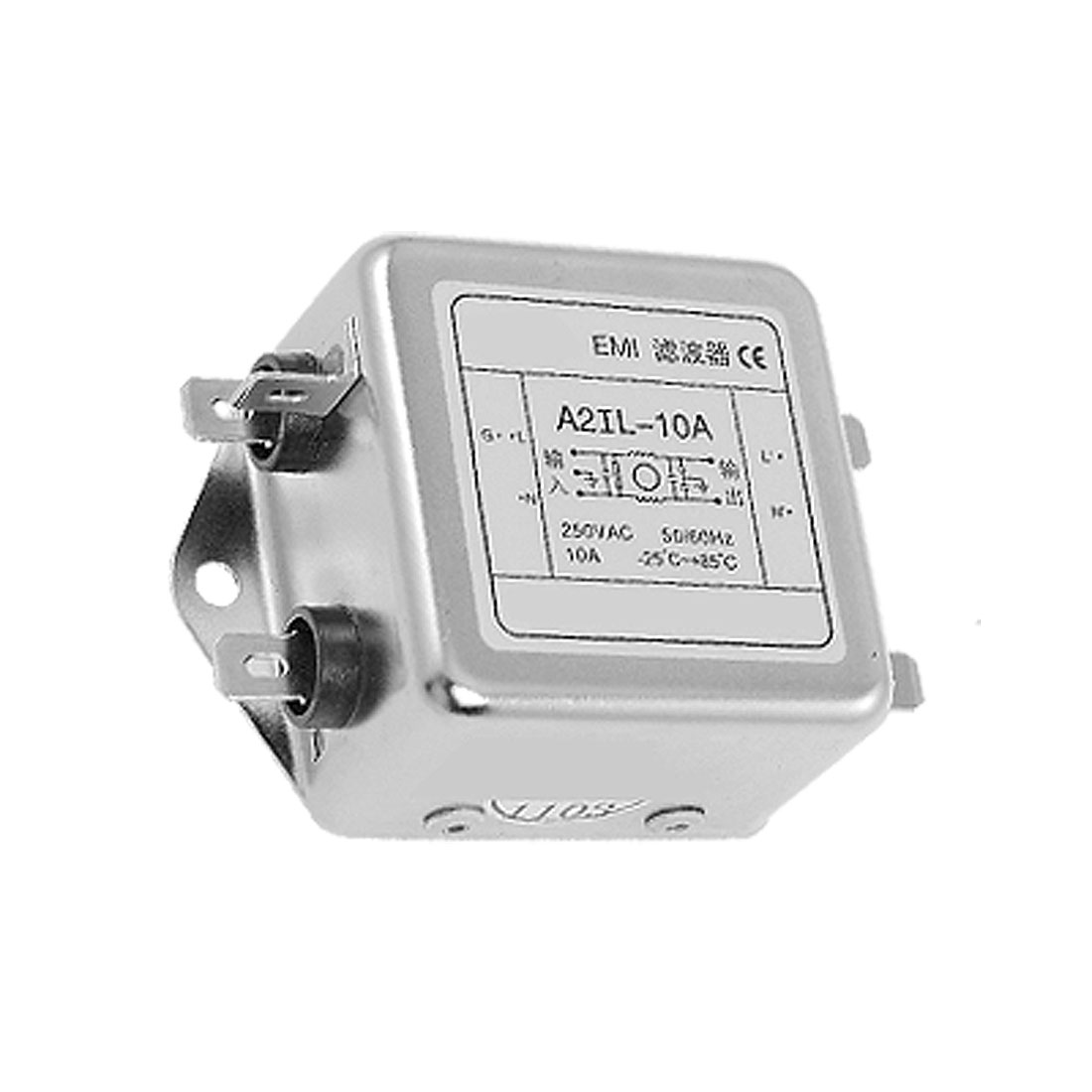 A2IL-10A AC 250V 10A AC Power Single Phase EMI Filter