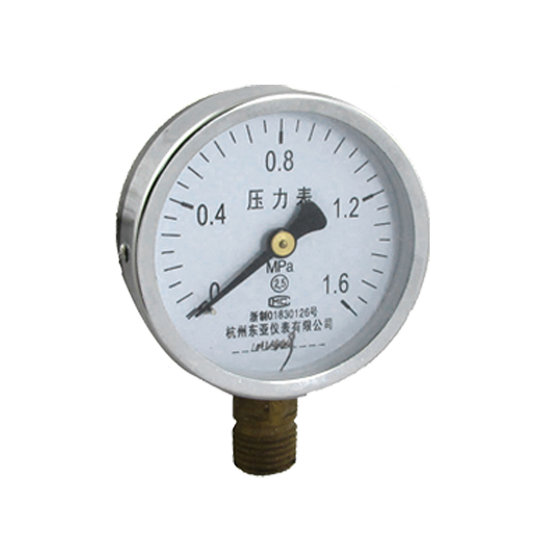 Round Dial 0-1.6 MPa Threaded Pressure Guage Measure Tool