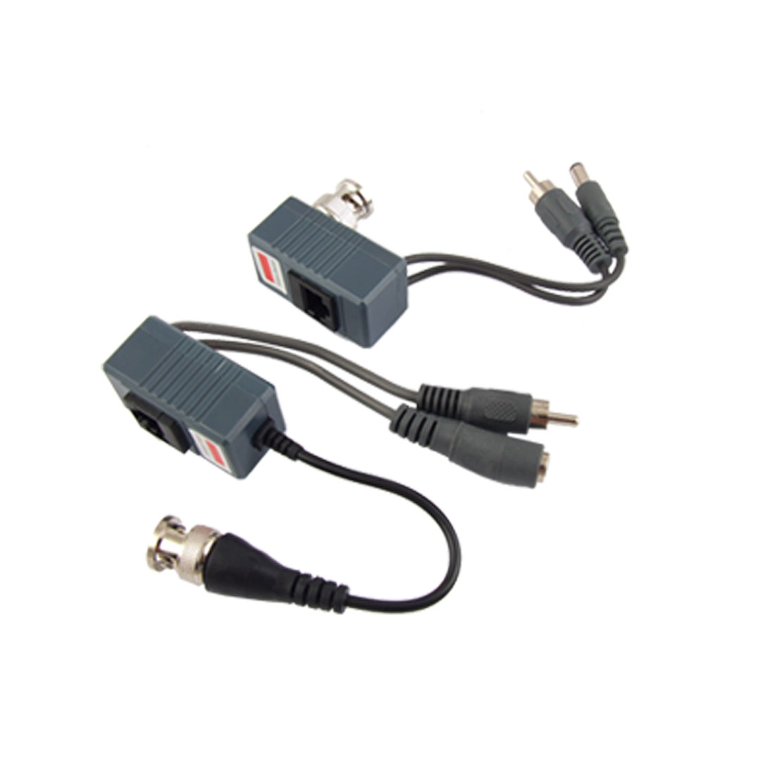 1 Port UTP Cat5 BNC Power Video Audio Balun Transceiver 2pcs for CCTV Security System