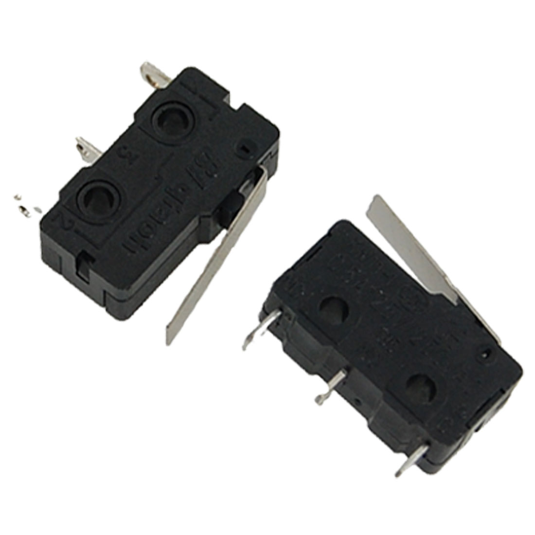 2 Pcs KW11-1Z-0101SF2 Momentary Lever Actuator Miniature Micro Limit Switch