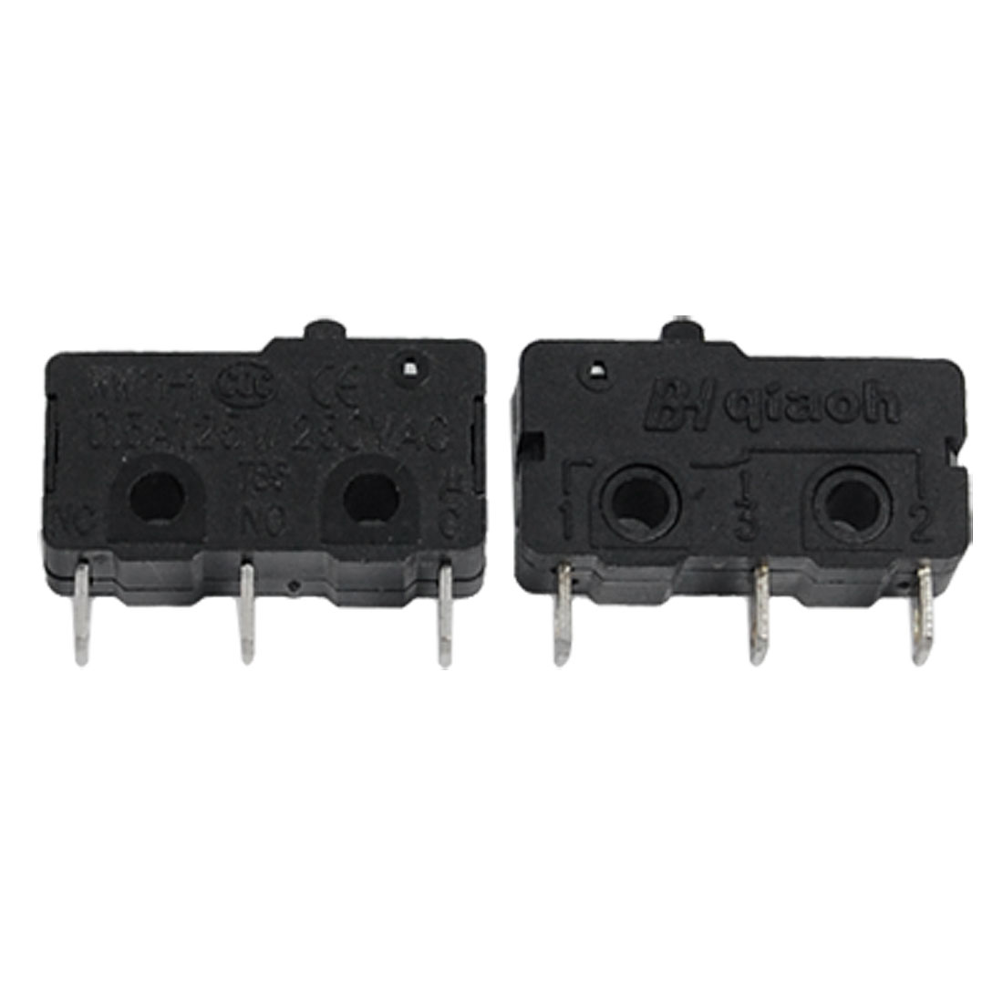2 Pcs Momentary 3 Terminals Button Actuator Micro Switch