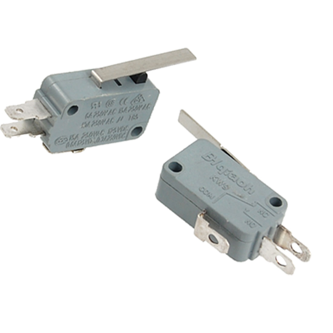 Metal Lever Actuator 3 Terminals Micro Switch 2 Pcs