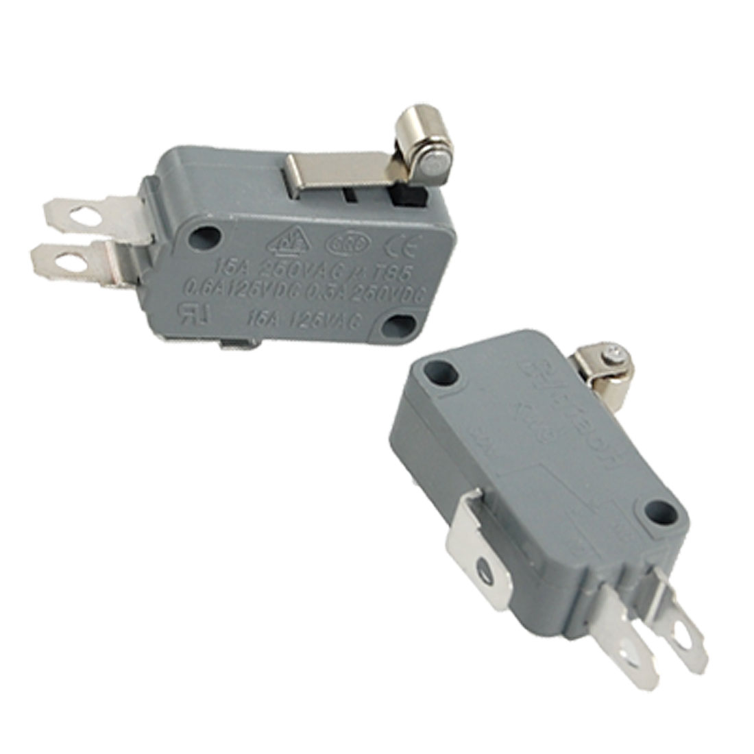 2 Pcs Roller Short Metal Lever Miniature Micro Switch