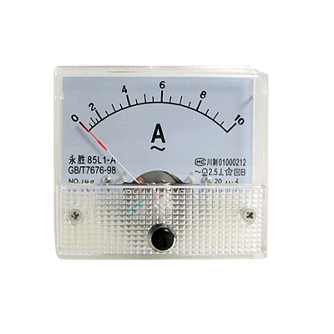 Fine Tuning Dial Panel Ampere Meter 85L1-A AC 0-10A