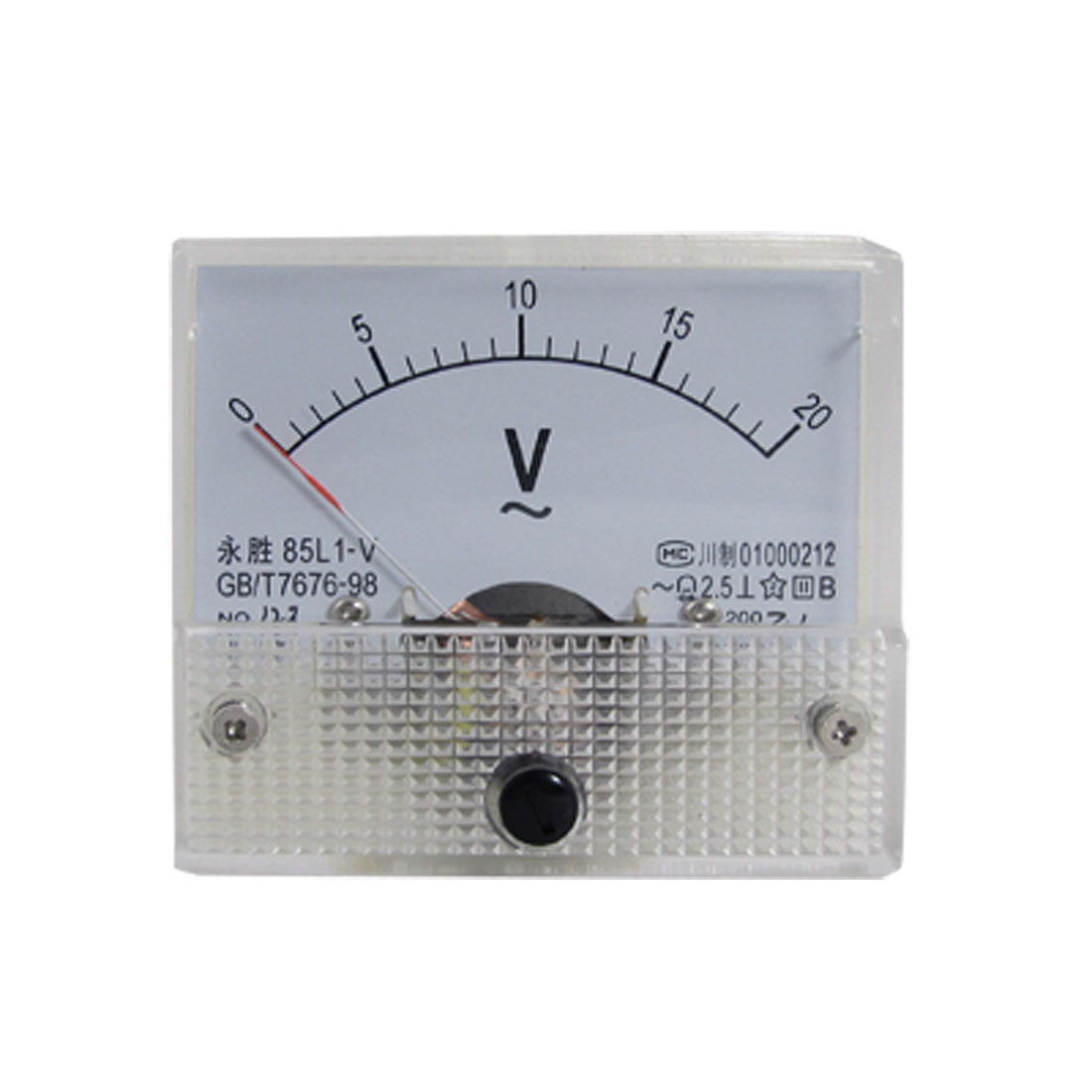 85L1-V AC 0-20V Analog Voltmeter Panel Meter Voltage