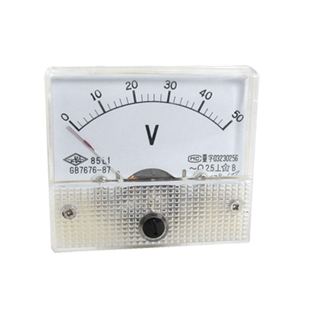 85L1 AC 0-50V Analogue Needle Panel Meter Voltmeter