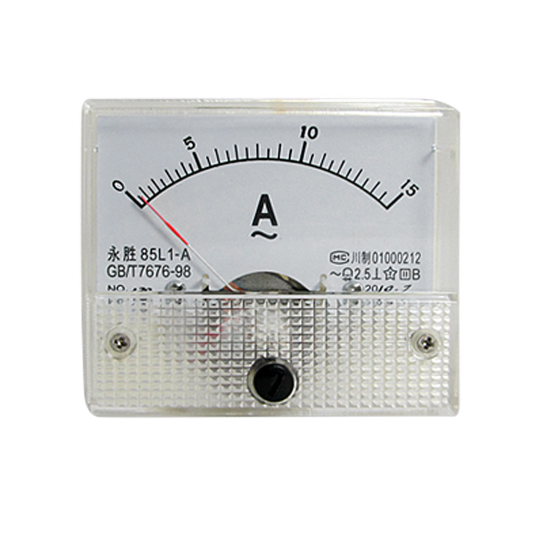 Class 2.5 Accuracy AC 0-15A Analog Panel Ammeter 85L1-A