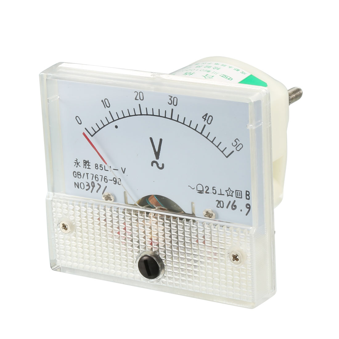85L1-A AC 0-100mA Rectangle Analog Panel Ammeter Gauge