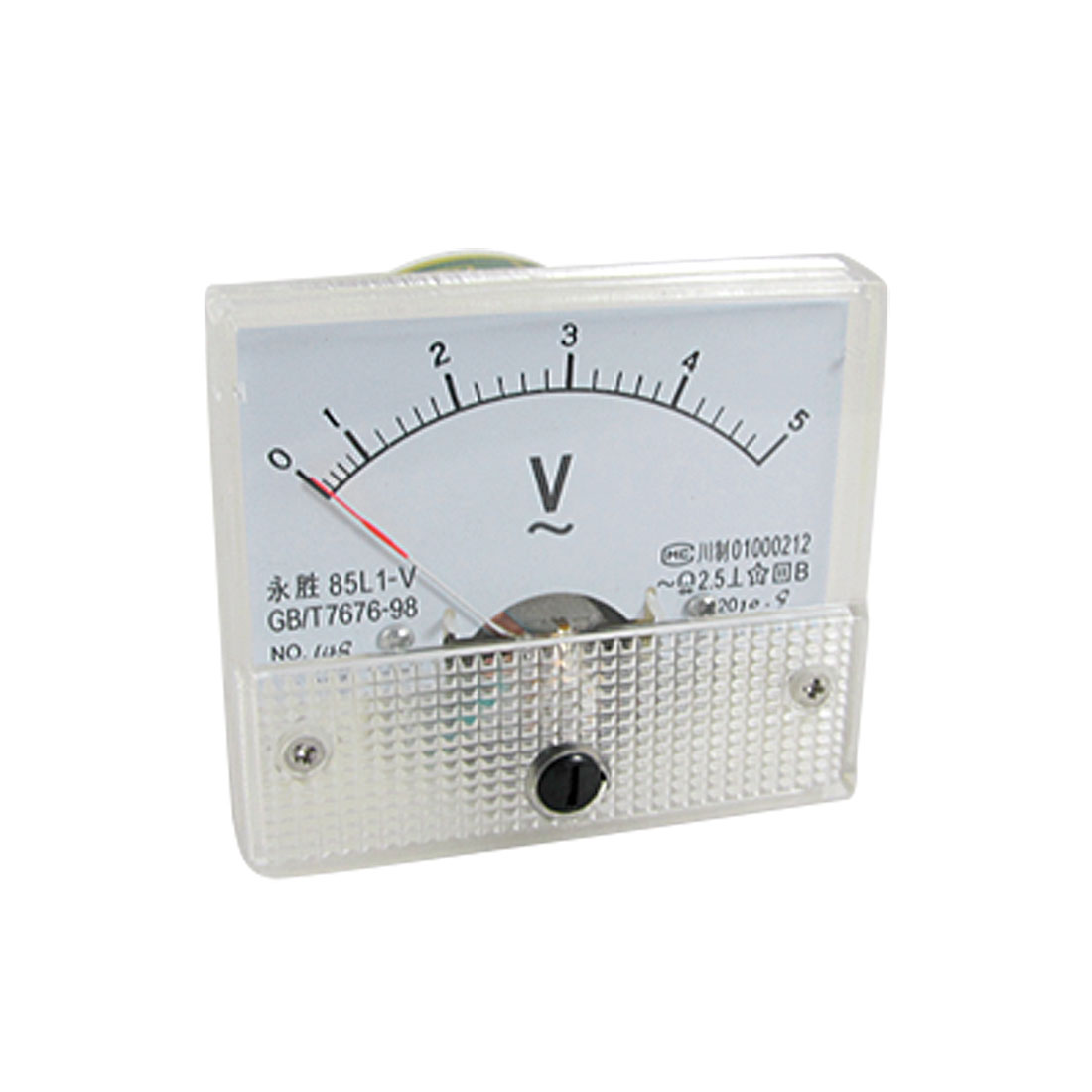 Class 2.5 Accuracy AC 0-5V Gauge Panel Voltage Meter 85L1-V