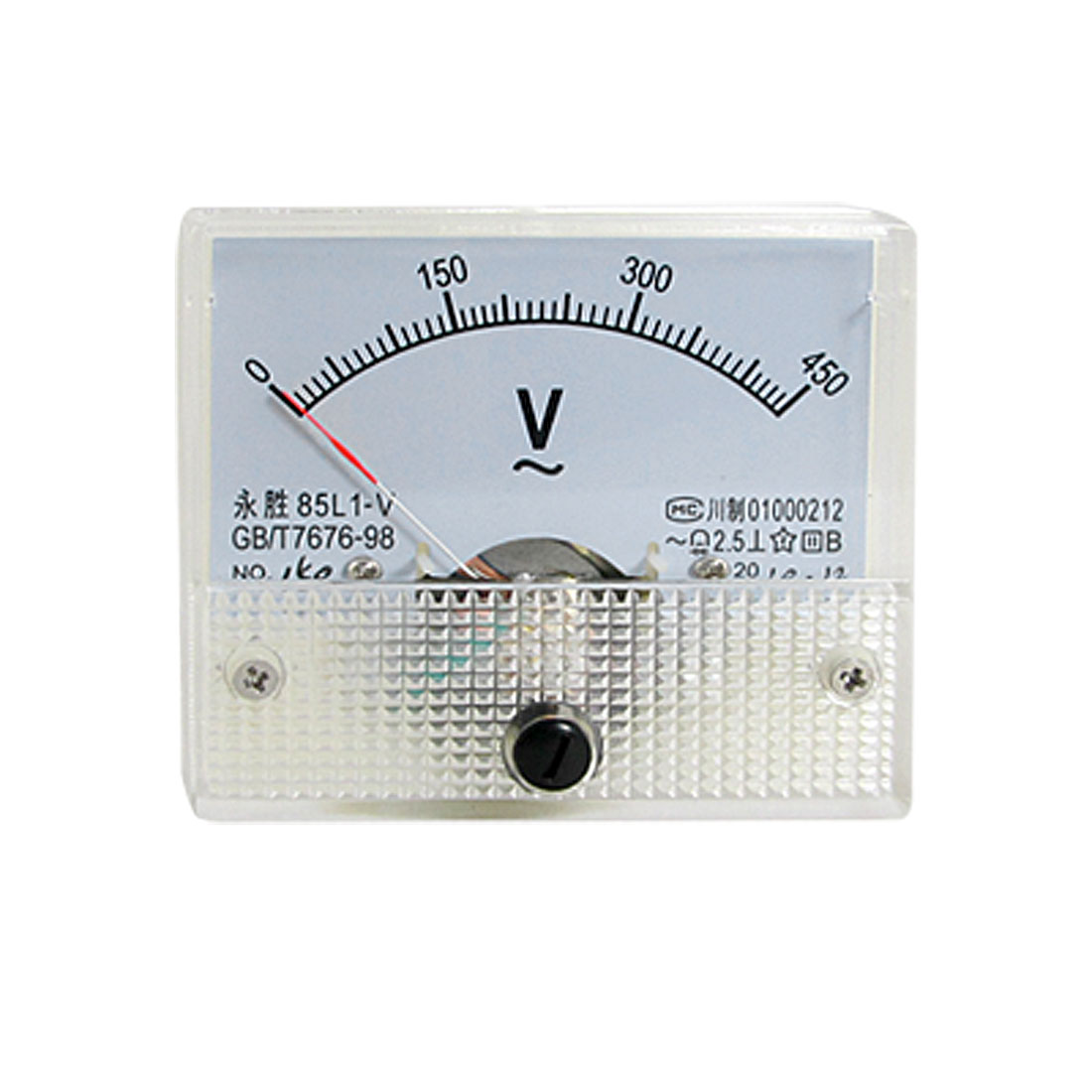 Class 2.5 Accuracy AC 0-450V Gauge Panel Voltage Meter 85L1-V