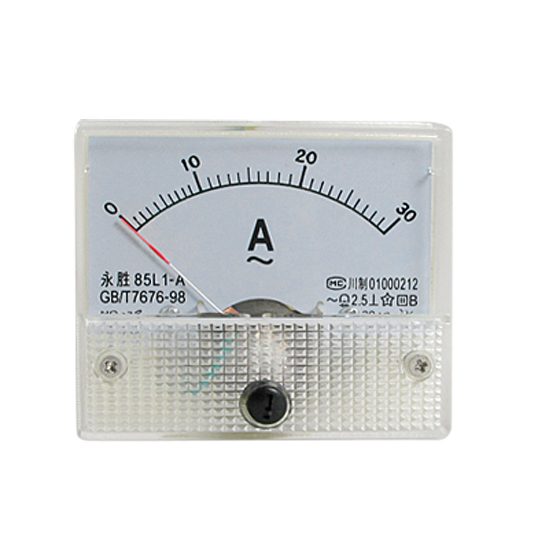 85L1-A AC 0-30A Rectangle Analog Panel Ammeter Gauge