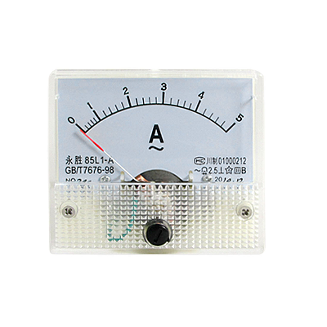 85L1-A Class 2.5 Accuracy AC 0-5A Analog Panel Ammeter