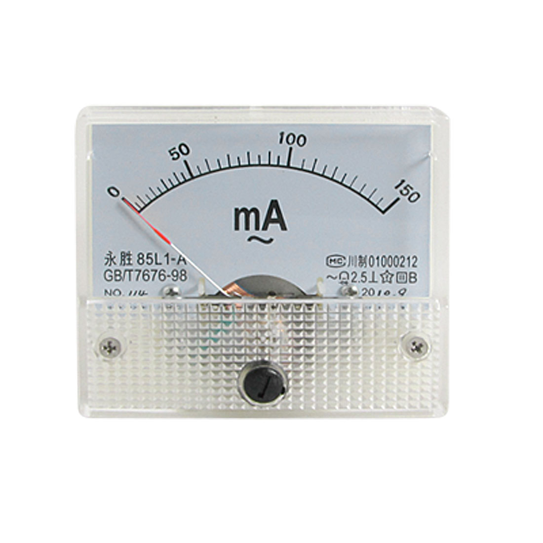 85L1-A AC 0-150mA Rectangle Analog Panel Ammeter Gauge