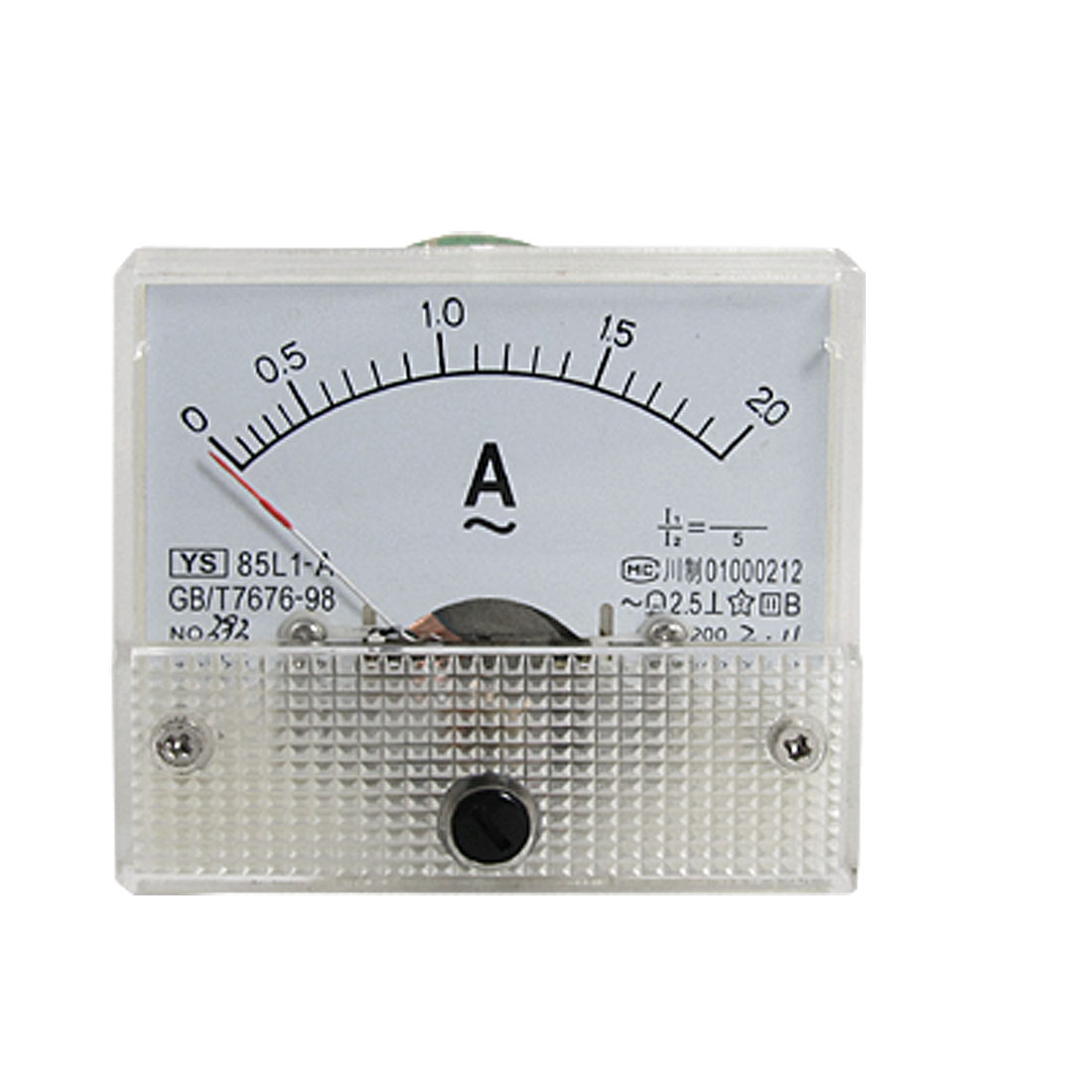 85L1-A AC 0-2A Rectangle Analog Panel Ammeter Gauge