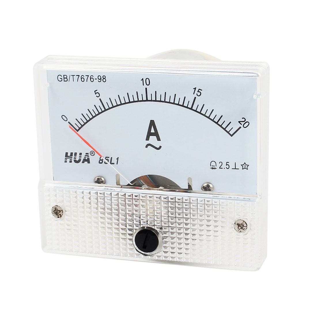 AC 0-20A Rectangle Analog Panel Ammeter Gauge 85L1-A