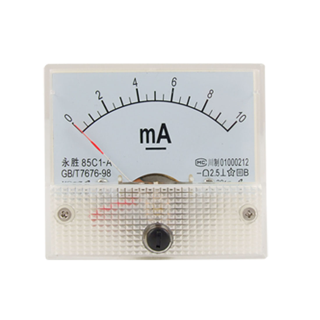 Class 2.5 Accuracy DC 0-10mA Analog Panel Meter Ammeter 85C1-A