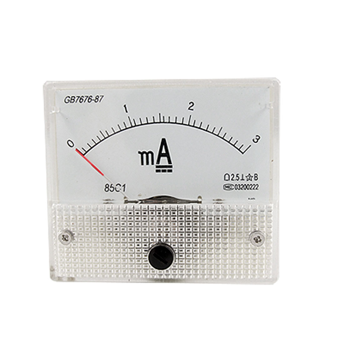 DC 3mA Analog Current Panel Meter Ammeter Gauge 85C1