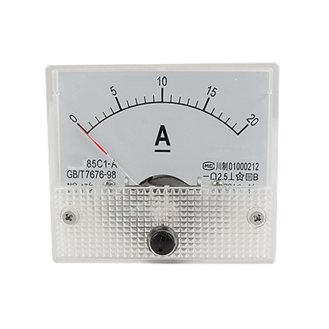85C1-A DC 0-20A Analog Panel Meter Ammeter Gauge w Installing Parts