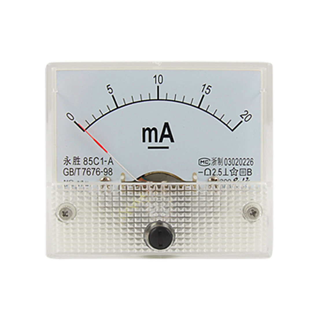 0-20mA Analog DC Current Panel Meter Ammeter 85C1-A