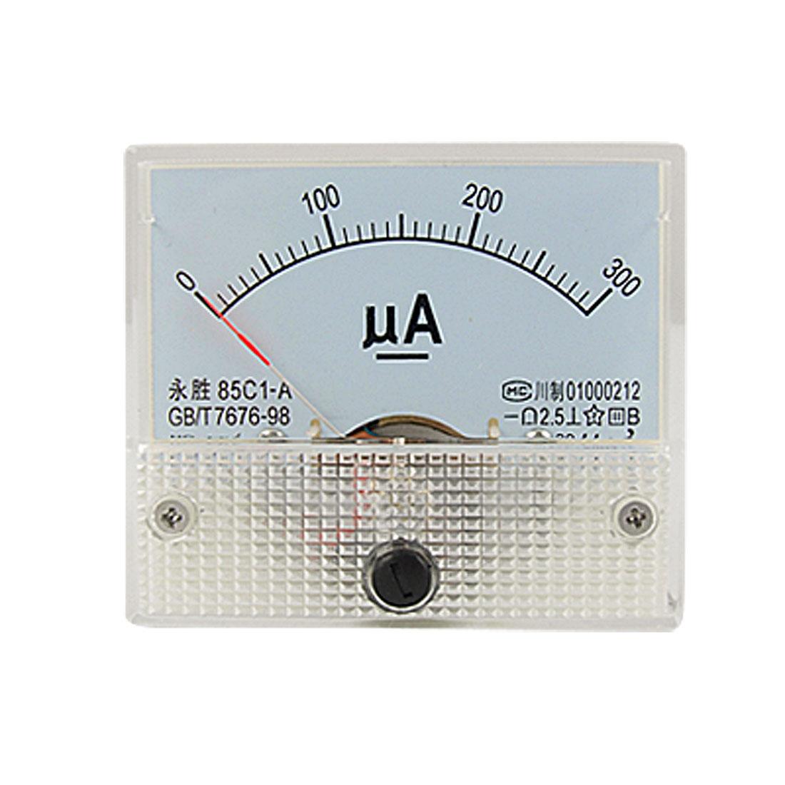 85C1-A DC 0-300uA Analog Panel Meter Ammeter Gauge