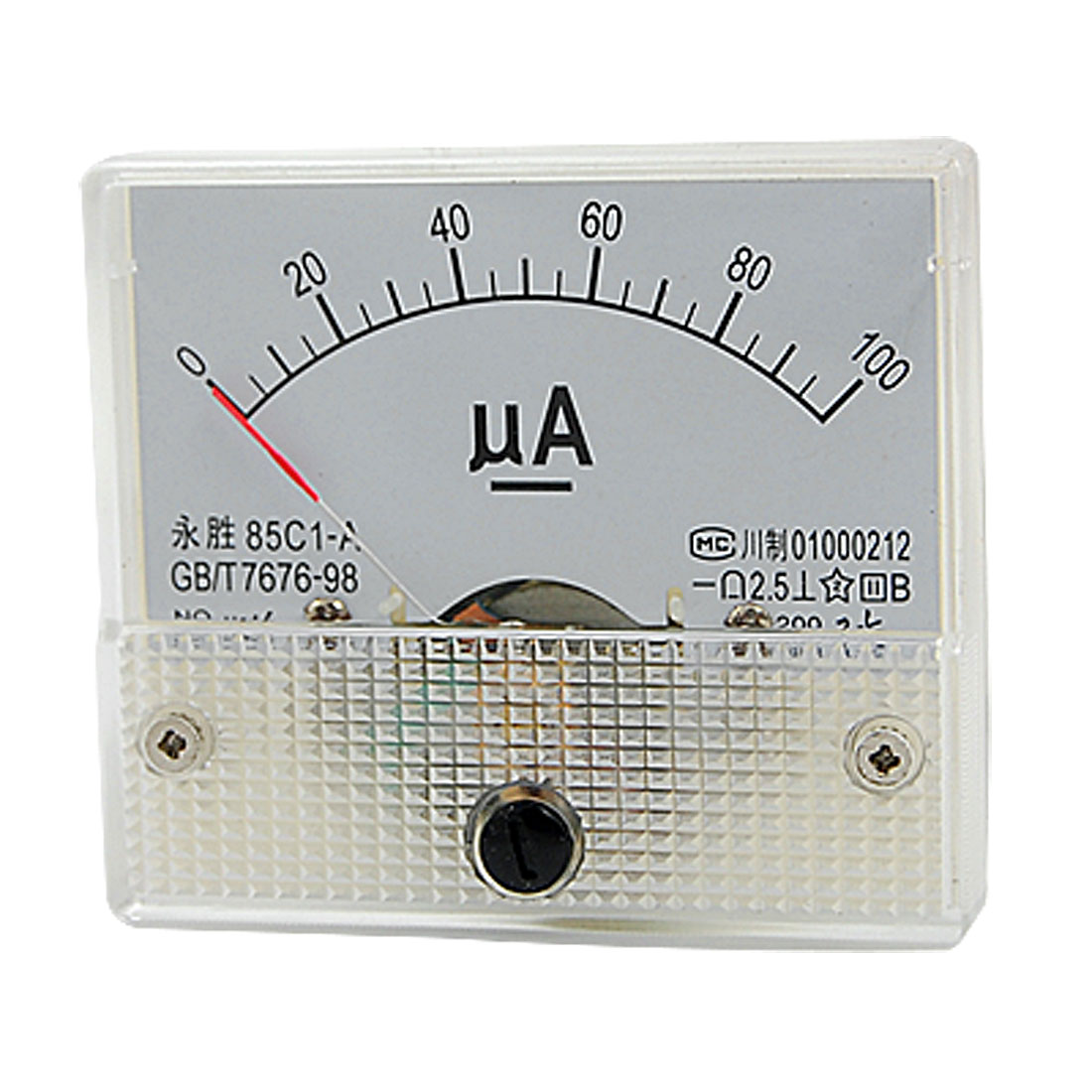 85C1-A DC 0-100uA Analog Panel Meter Ammeter Gauge New
