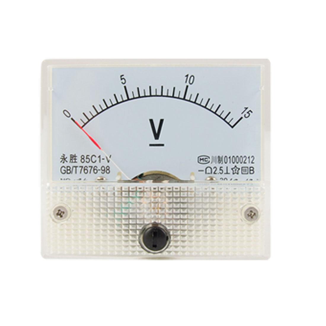 85C1 Fine Tuning Dial Analog Volt Panel Meter Gauge DC 0-15V