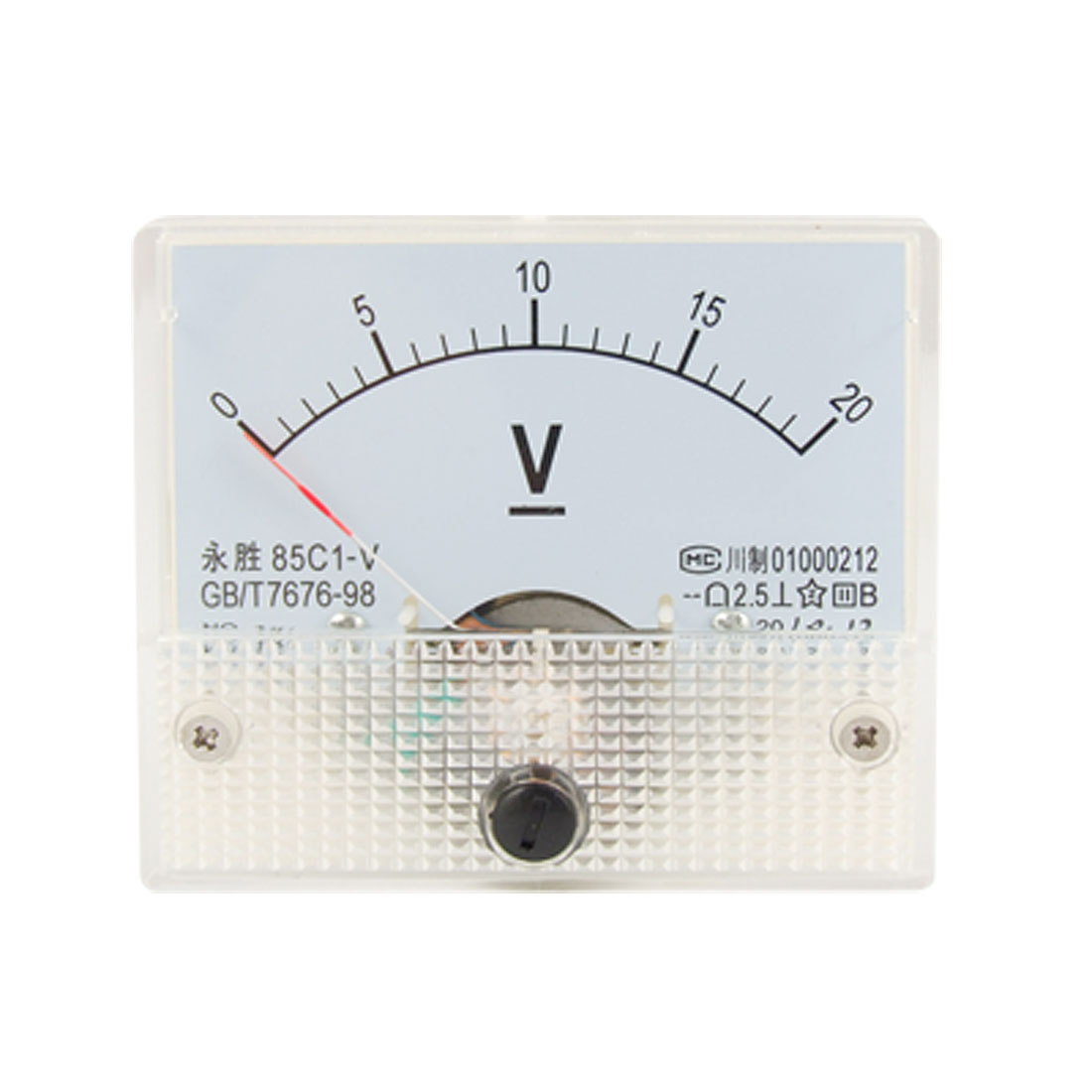 85C1 Fine Tuning Dial Analog Voltage Panel Meter Voltmeter DC 0-20V