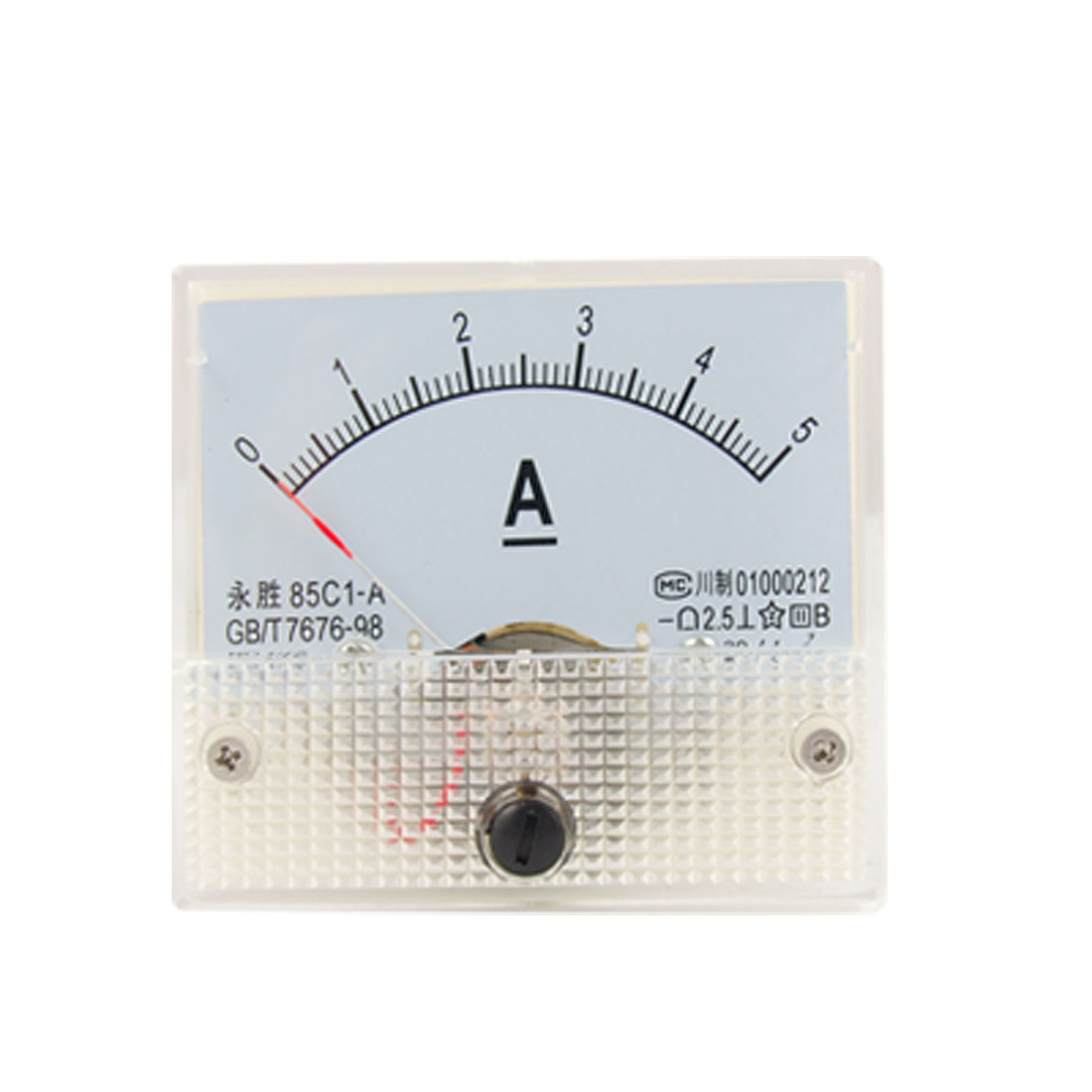 Class 2.5 Accuracy DC 0-5A Analog Panel Meter Ammeter 85C1-A