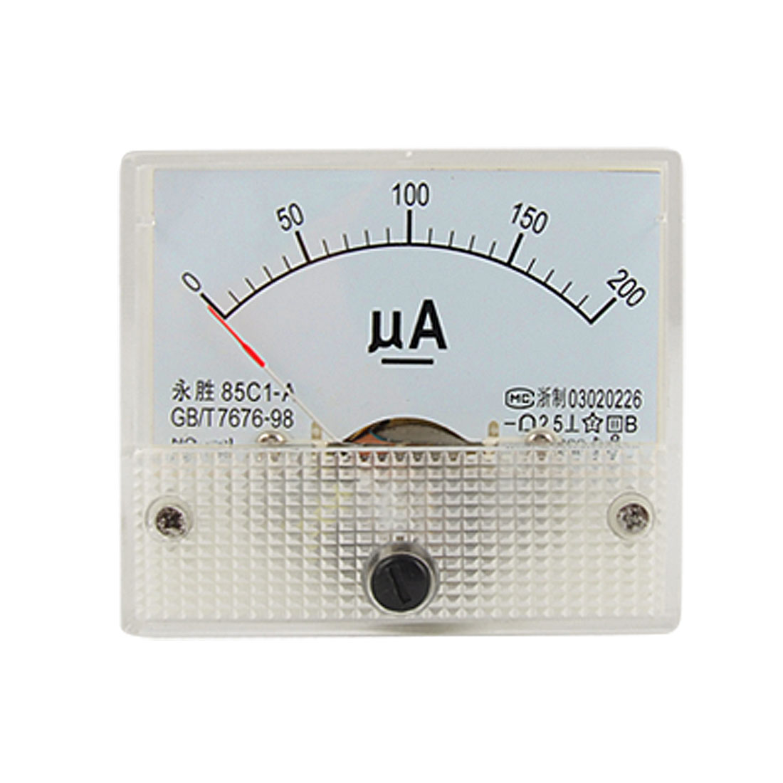 0-200uA DC Current Analog Panel Meter Amperemeter Gauge 85C1-A
