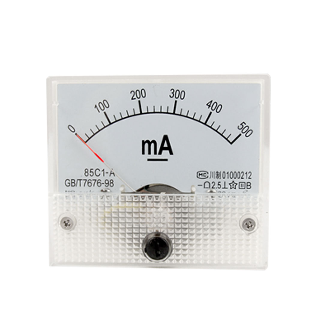 85C1-A DC 0-500mA Analog Panel Meter Ammeter Gauge New 20mA Tick Mark