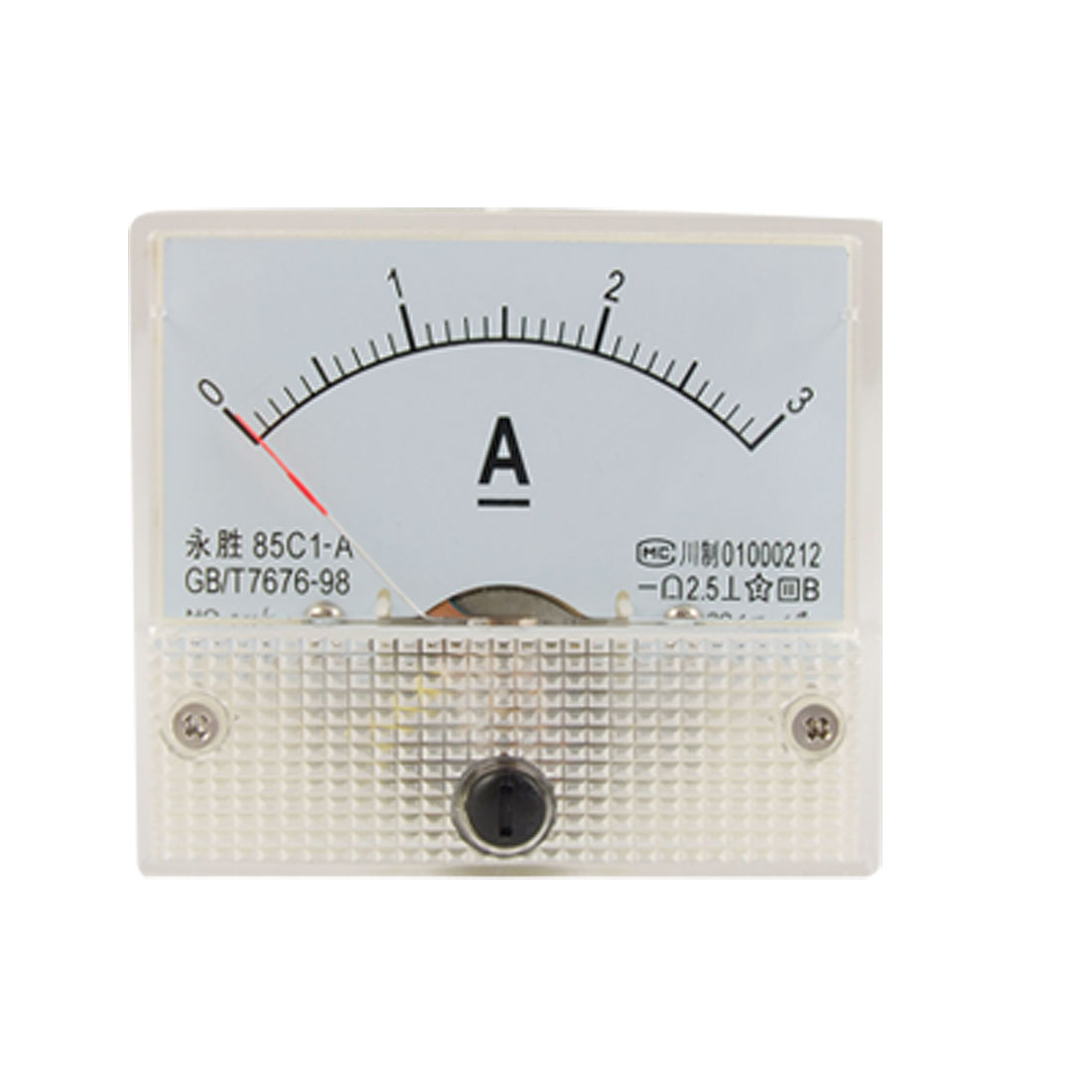 Class 2.5 Accuracy DC 0-3A Analog Panel Meter Amperemeter 85C1-A
