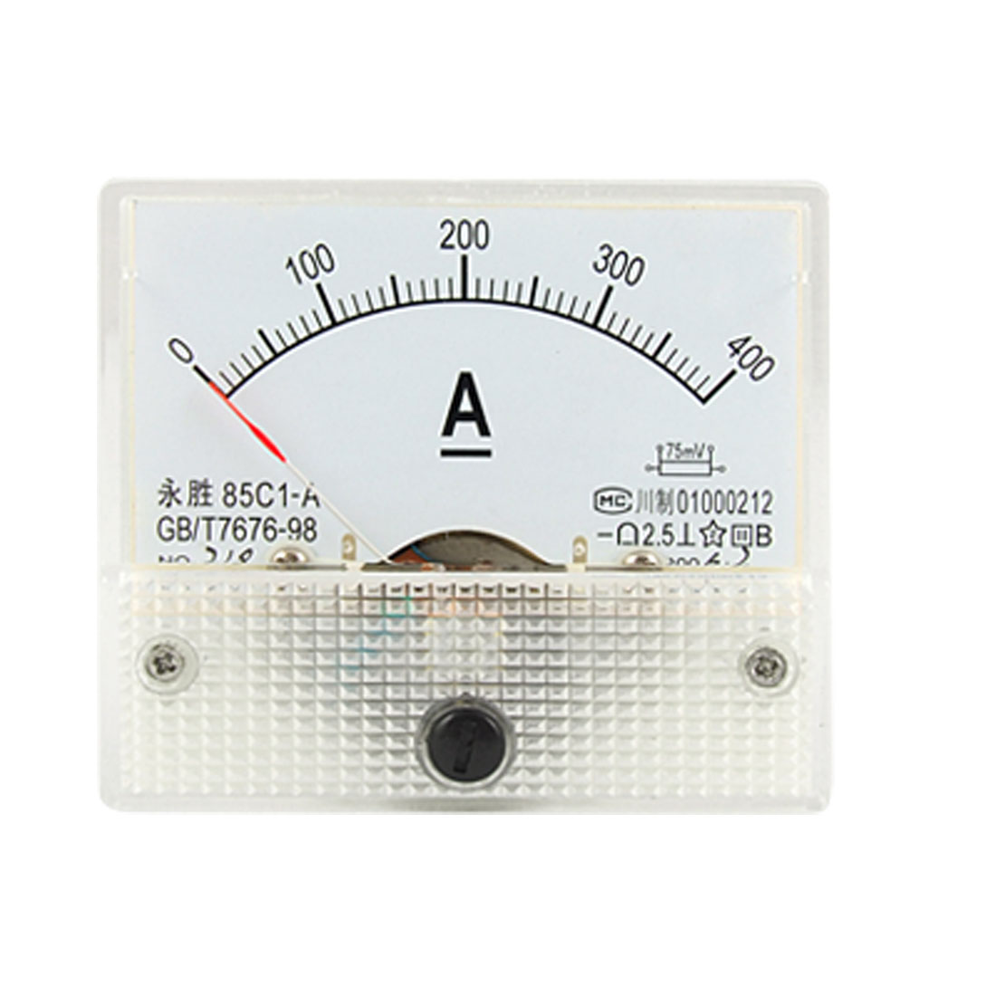 0-400A Analog DC Current Panel Meter Ammeter 85C1-A w Installing Screws