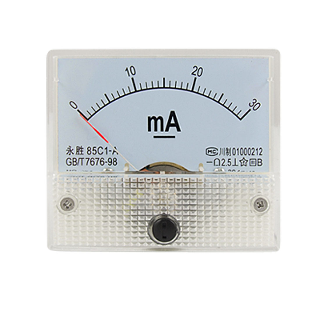 DC 0-30mA Analog Current Panel Meter Amperemeter 85C1-A