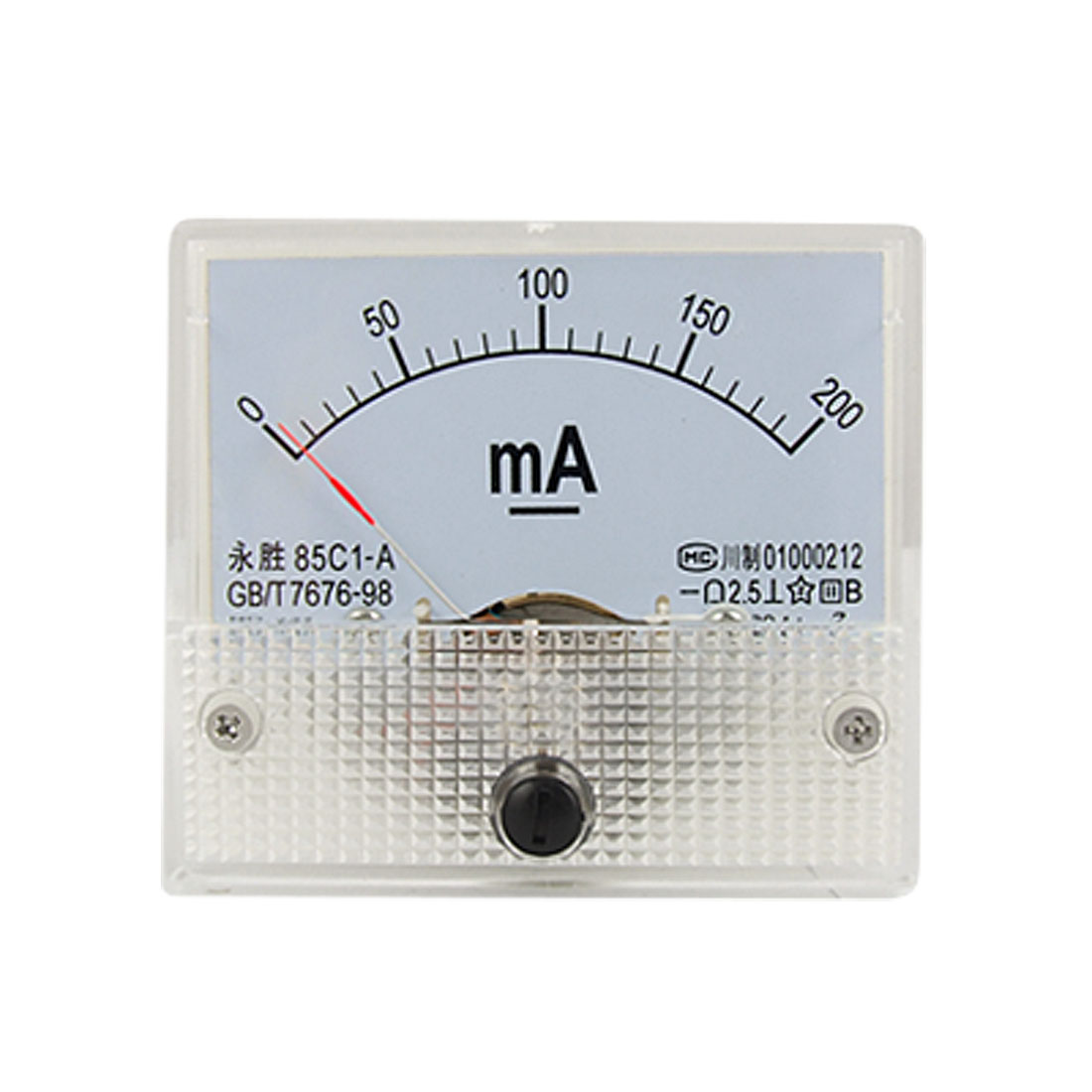 DC 0-200mA Analog Current Panel Meter Ammeter 85C1-A