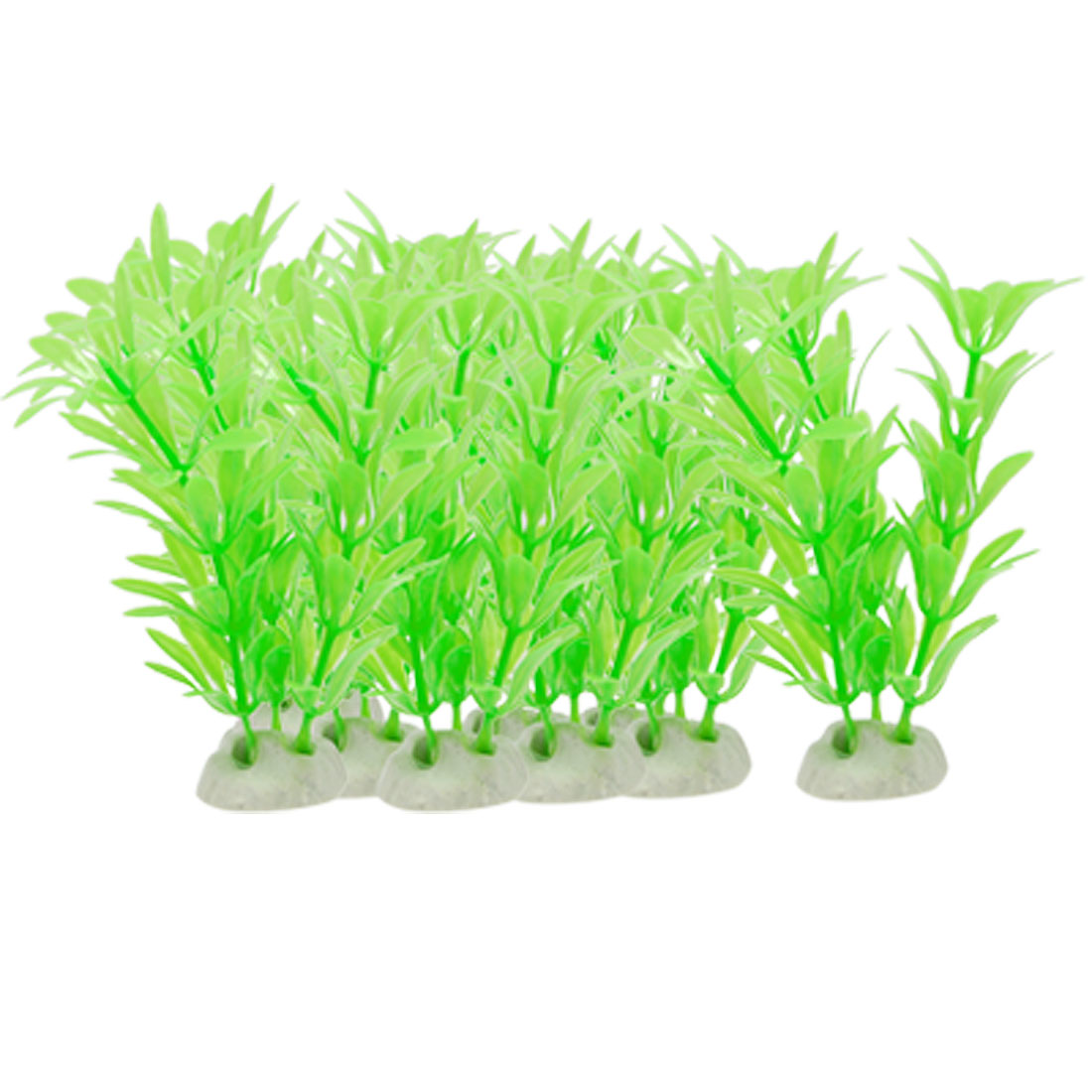 10 Pcs Plastic Green Aquatic Plants Aquarium Tank Decor