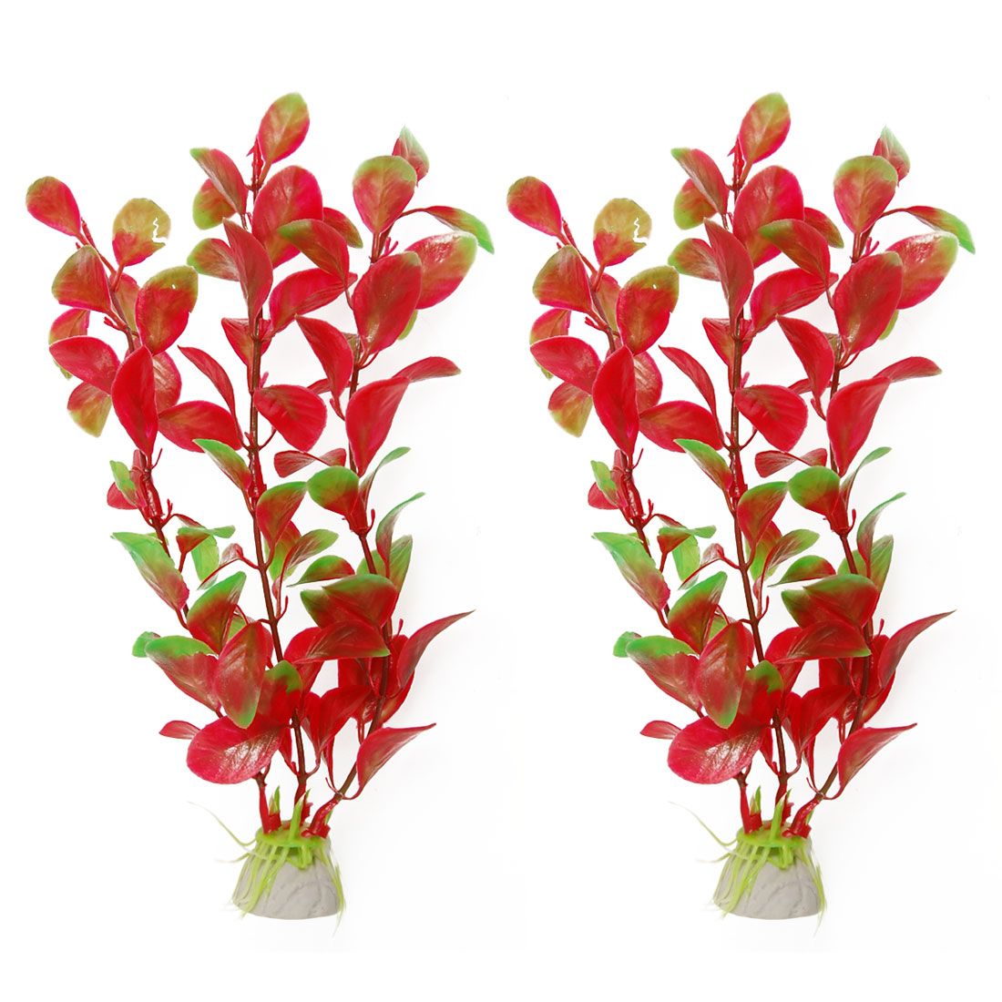 2pcs Manmade Red Green Underwater Plants Aquarium Decor