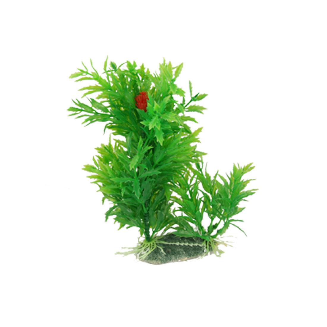 "Green Leaf 7.1"" High Plastic Plant Aquascaping for Aquarium"
