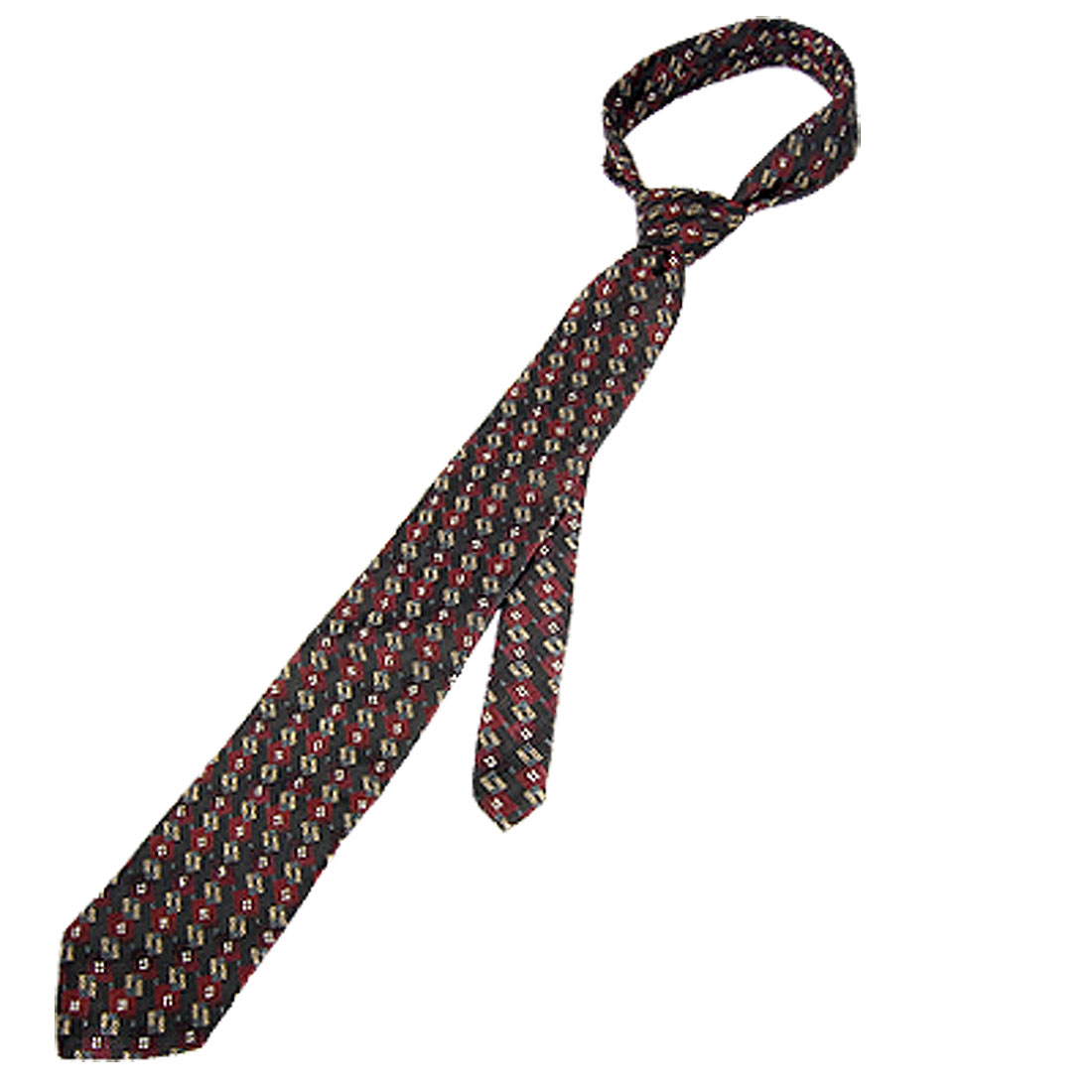 "Men Geometric Pattern Polyester Self Ties Necktie 61"""