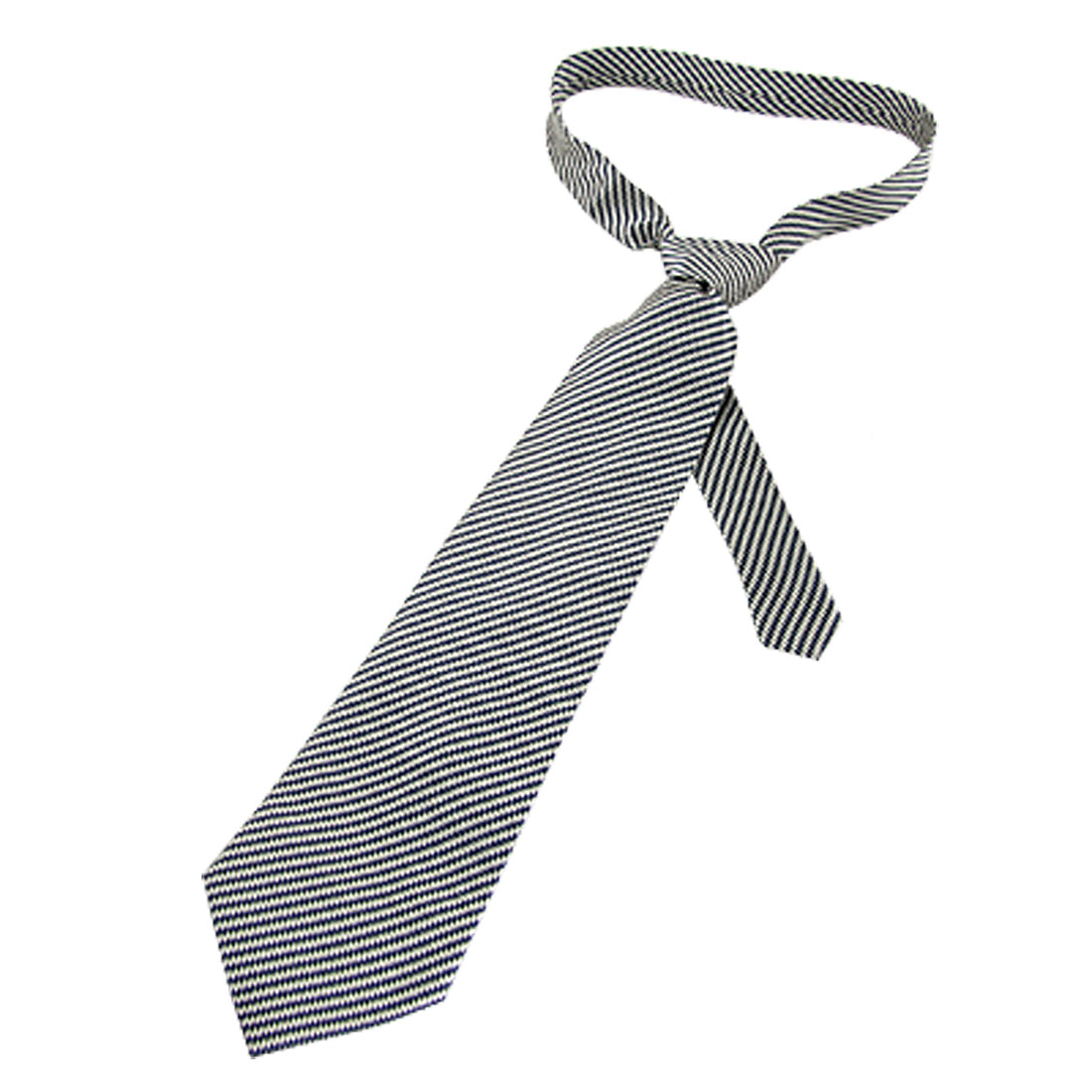 Beige Parallelogram Pattern Black Polyester Necktie for Man