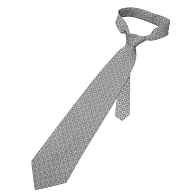 "Men 54.3"" Length Self Tie Polyester Plaid Necktie Gray"