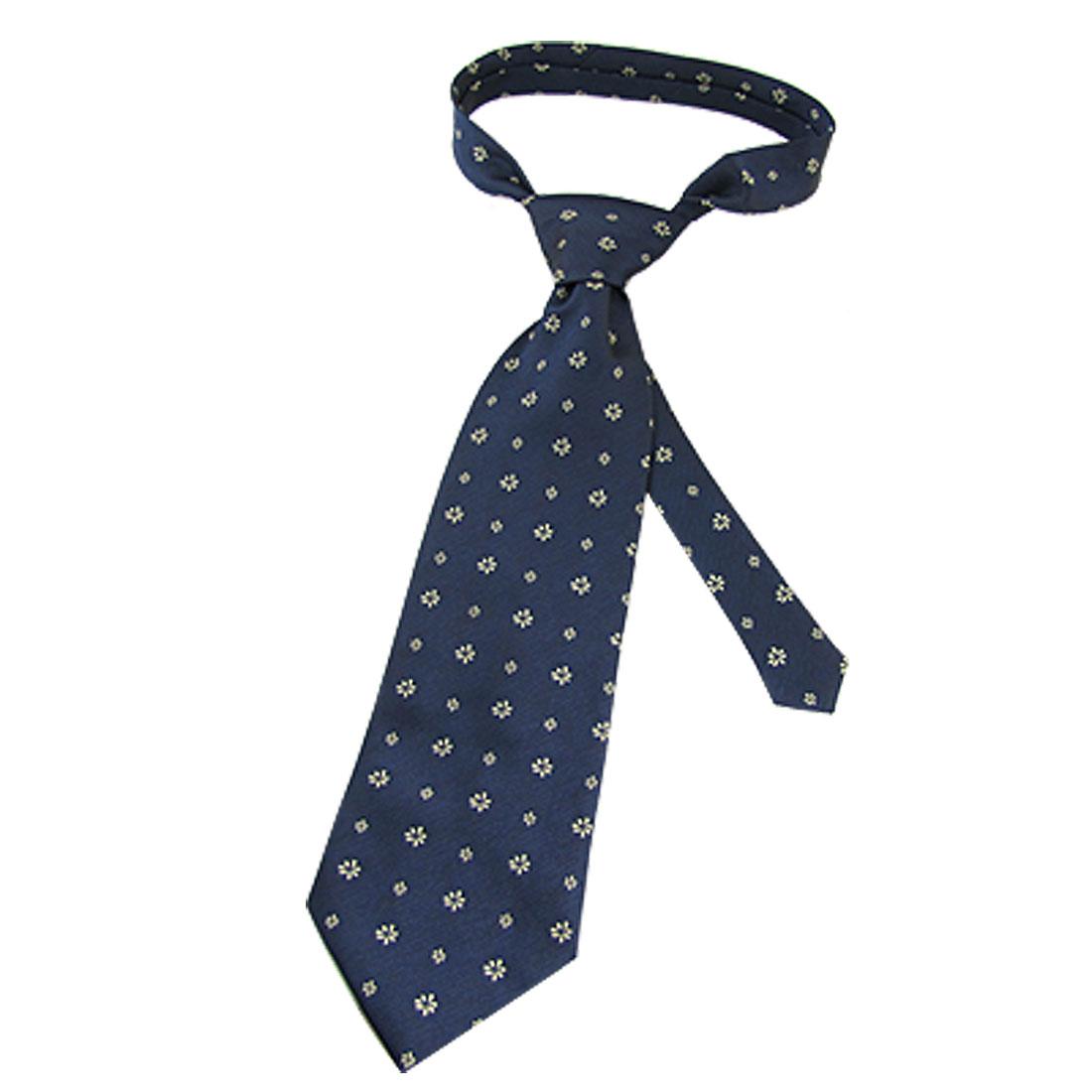 """Man 4"""" Width Pale Green Floral 57.8"""" Dark Blue Necktie"""