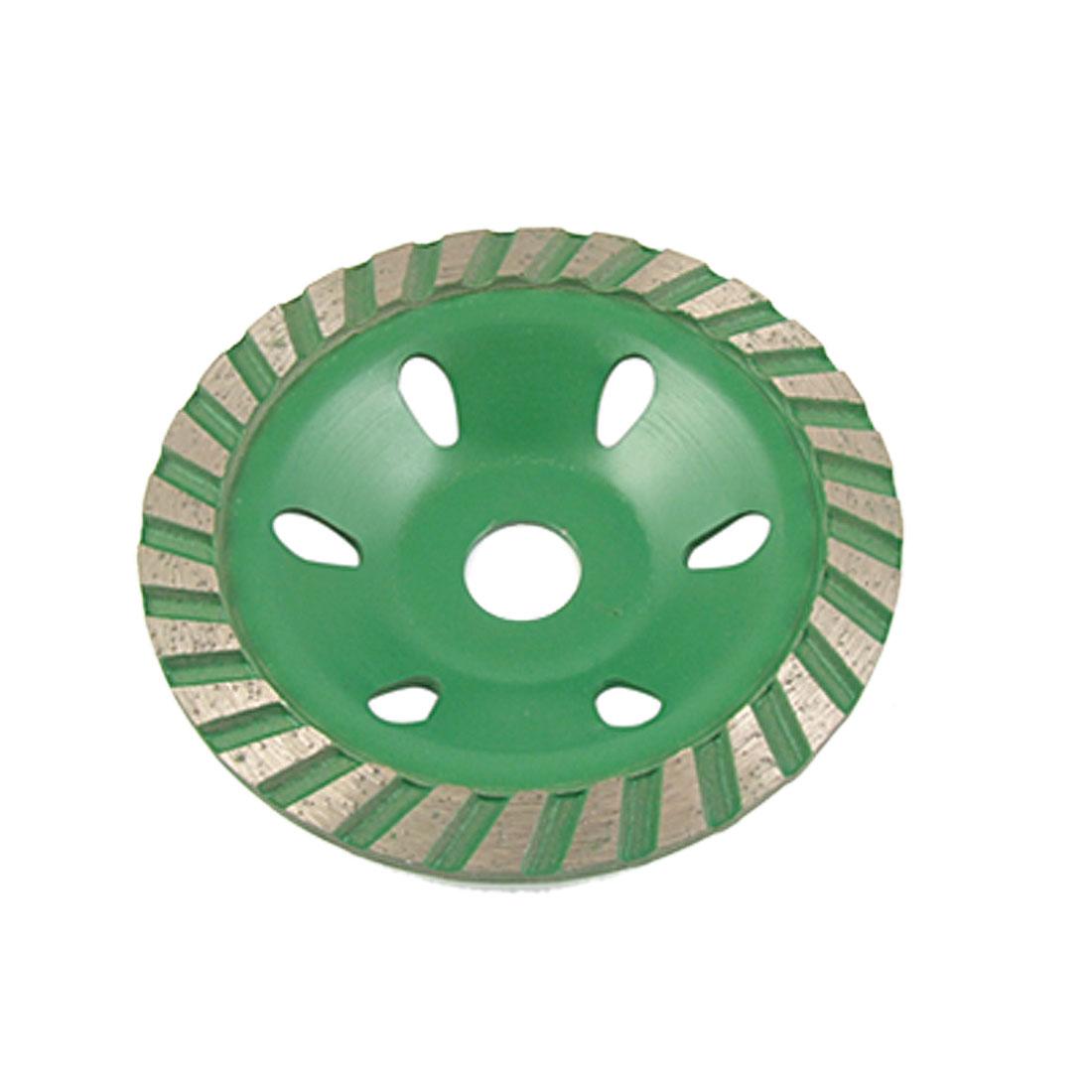 100mm Polishing Ceramic Concrete Grinding Disc Green Gray