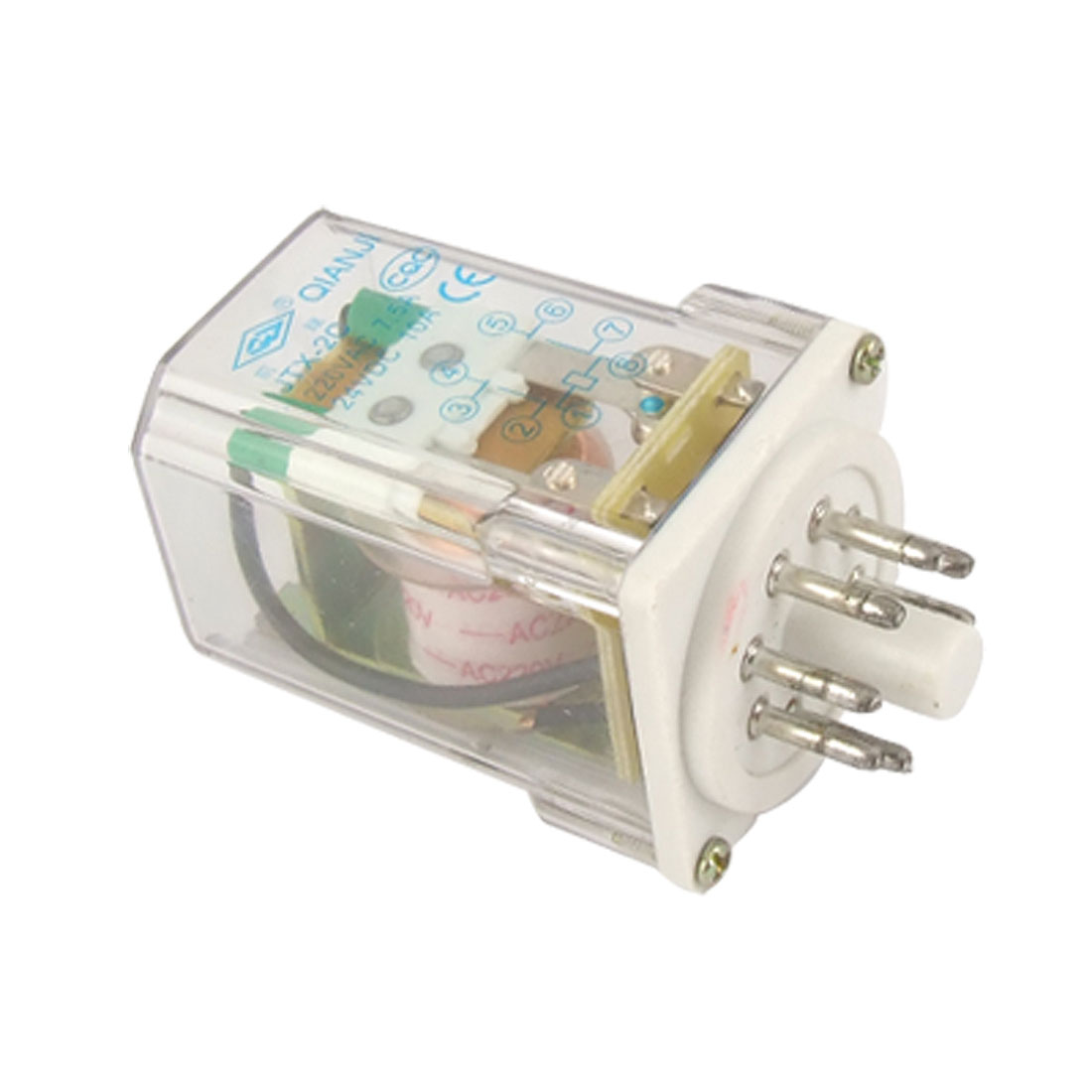 JTX-2C AC 220V Coil Electromagnetic Relay 8 Pins DPDT 2 NO 2 NC