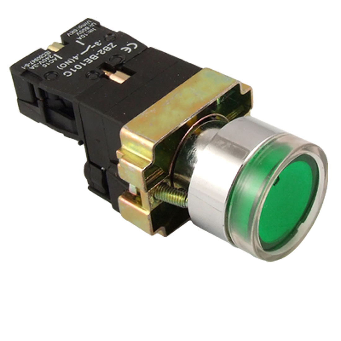 ZB2-BE101C Green Lamp Light Momentary Push Button Switch 1 N/O NO Normally Open