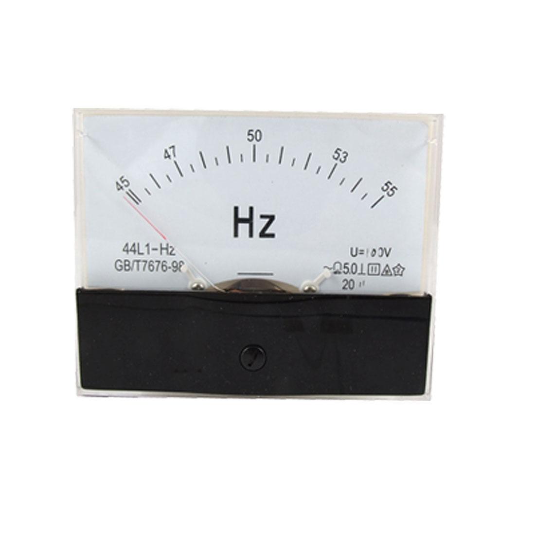 45-55 Hz AC 100V Rectangle Panel Frequency Meter Gauge 99x79mm
