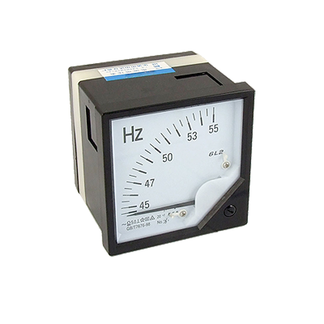 45-55 Hz AC100V Analogue Frequency Meter Gauge Square Panel