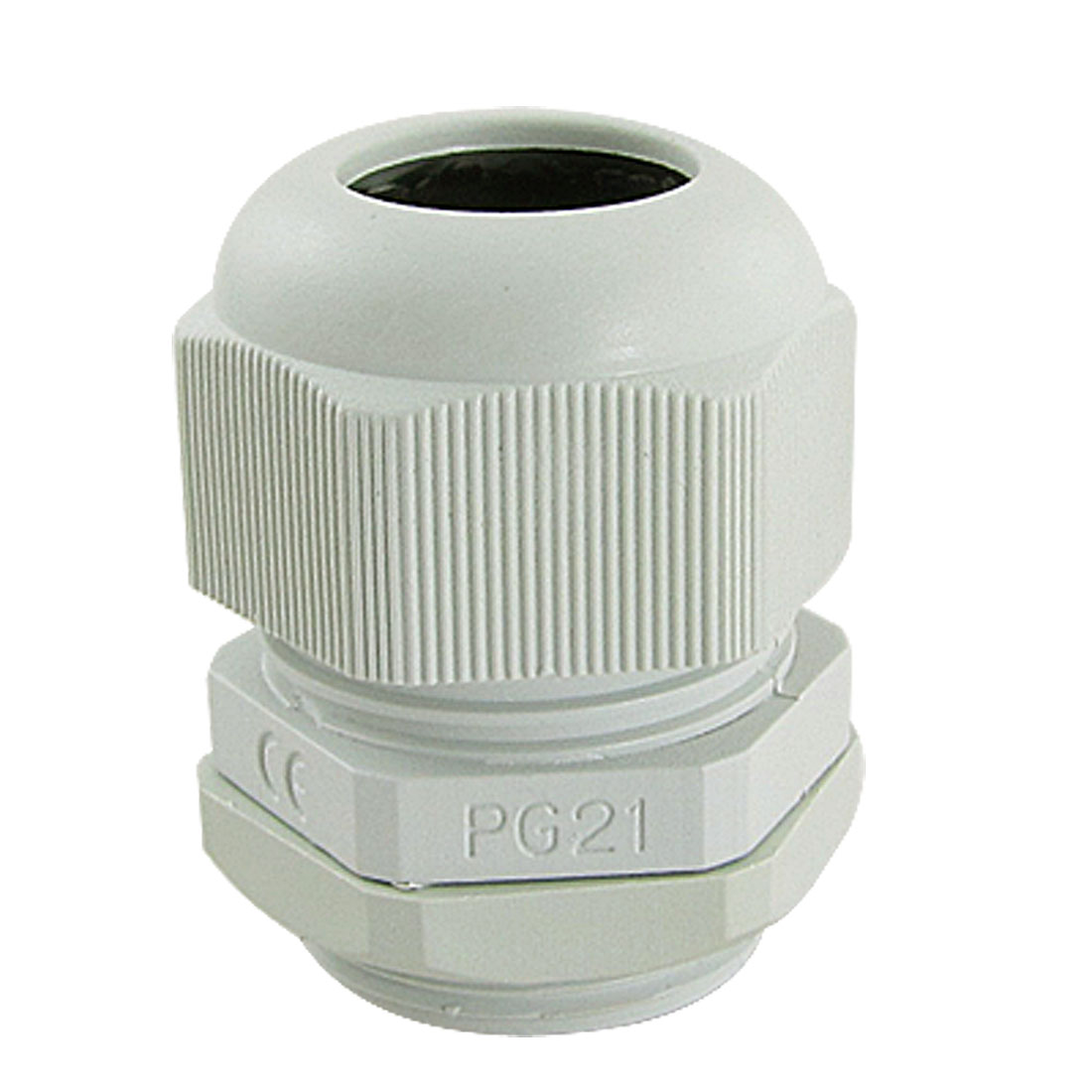 5 Pcs Waterproof PG21 Plastic Cable Connectors White