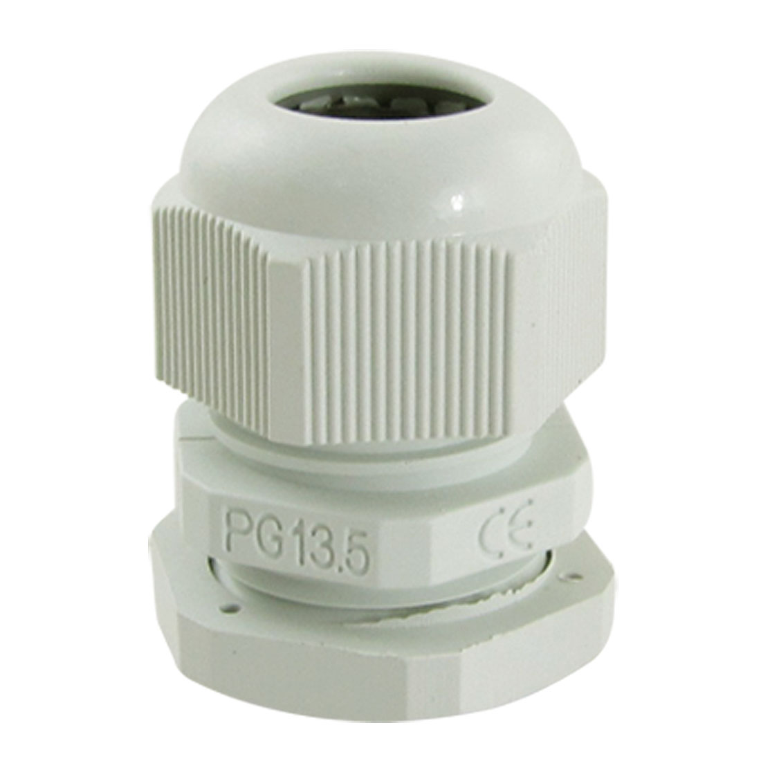 10 Pcs PG13.5 White Plastic Waterproof Connectors Cable Glands